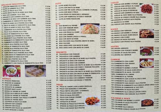 Men d 39 asporto pt 3 foto di ristorante la gioia di xu for Menu cinese