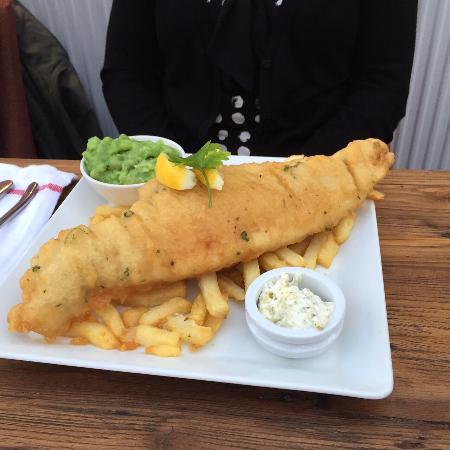 The Swan: Huge fish and chips!