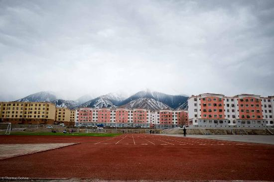 Barkol County, China: Sports facilities behind the hotel. Train with the Kazakhs.