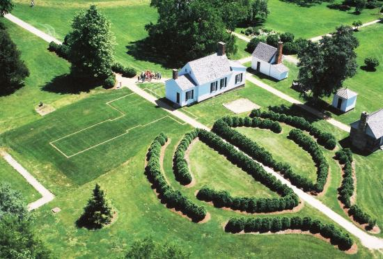 Brookneal, Wirginia: Aerial view of Patrick Henry's Red Hill