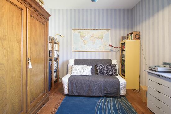 B&B Cosy Corner Bordeaux : salon bureau des chambres Mimosa & Océan