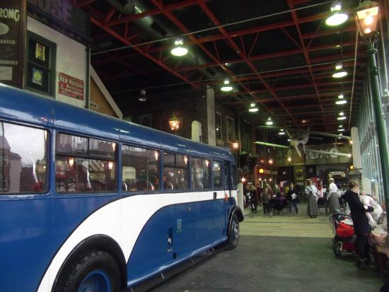 Streetlife Museum of Transport : bus  by shops