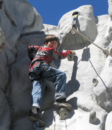 1849 كوندوس - ماموث ليكس: climbing wall main lodge
