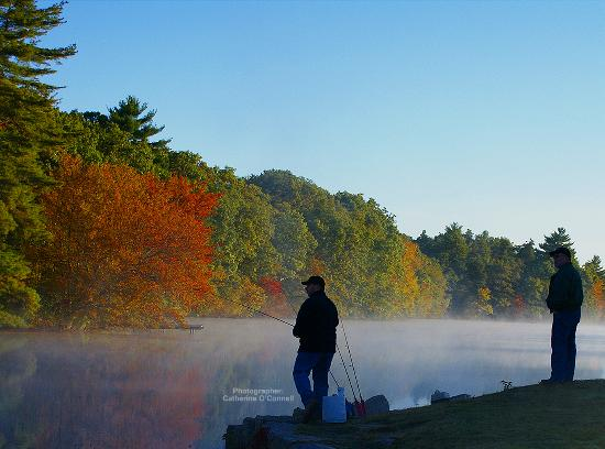 South County, RI: Fishing in the Fall in Hope Valley, photographer Catherine O'Connell