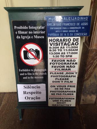Aleijadinho Museum: Horarios