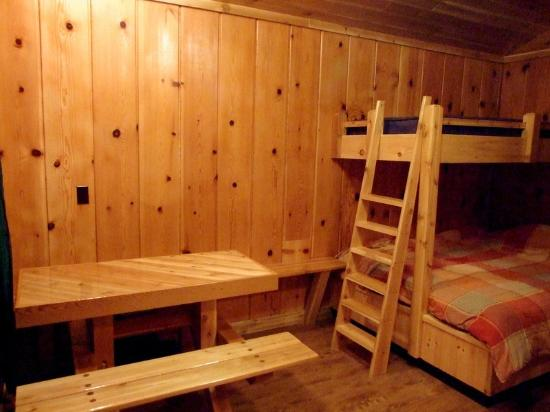 Mackinac Lakefront Cabin Rentals: Inside 3 person cabin