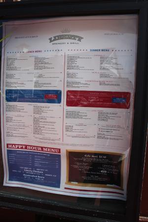 Liberty Brewery Grill Menu Steakhouse Myrtle Beach Sc