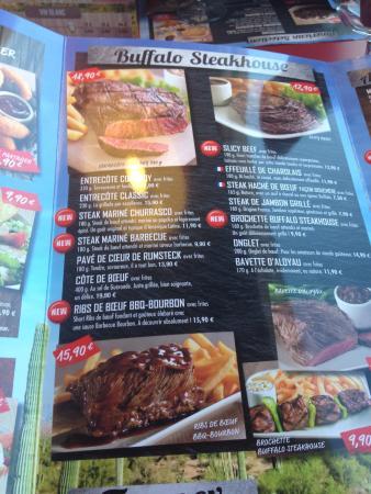 Buffalo Grill: Carte