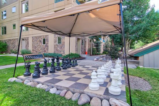 Falcon Point: Outdoor chess game