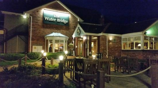 The Water Bridge Table Table: The Water Bridge at Night.