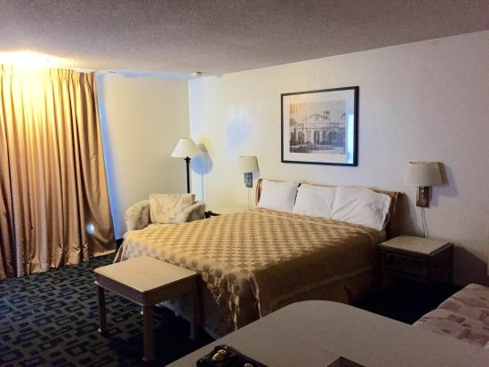 Royal Plaza Inn: King bed deluxe room