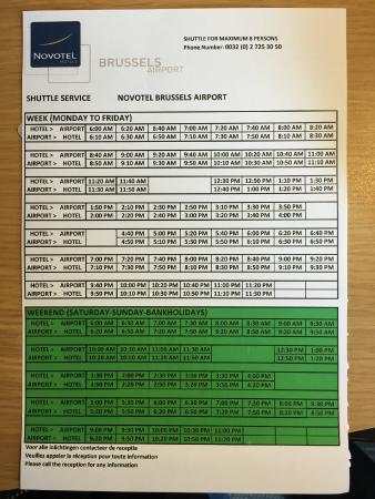 Novotel Brussels Grand Place: bus schedule