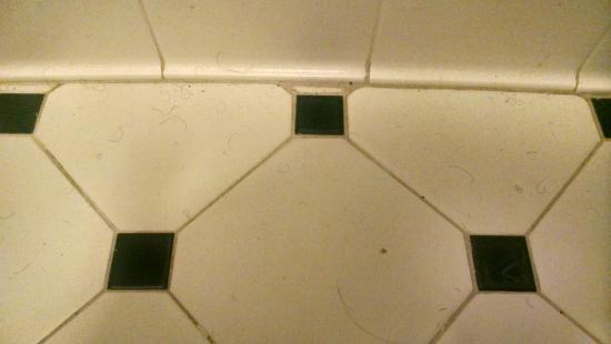 La Quinta Inn Merrillville: pubic hairs on bathroom floor upon check-in