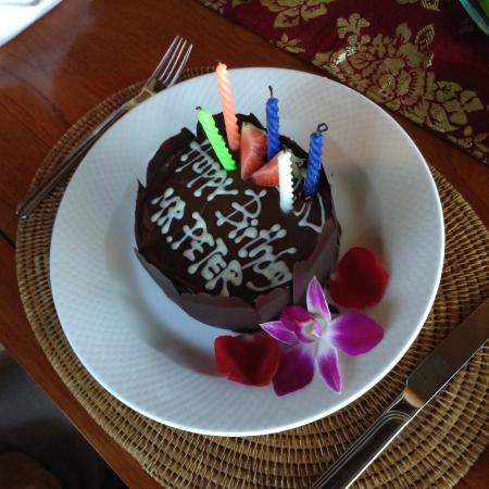 Ayodya Resort Bali My Dads Complimentary Birthday Cake