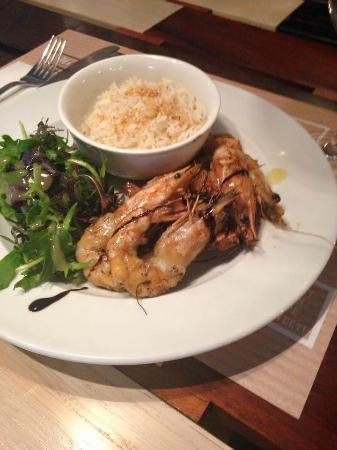 Canteen: Grilled shrimp with risotto