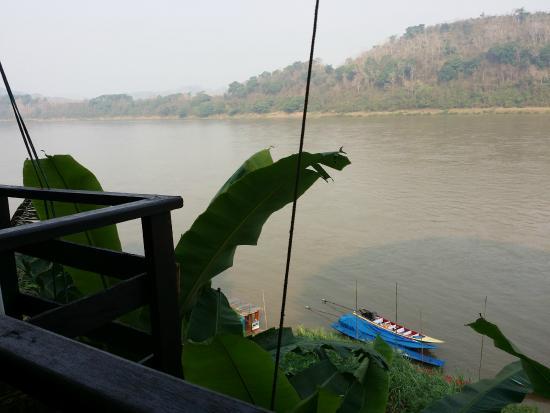 MyLaoHome Boutique Hotel: Vistas mientras desayunas, el río Mekong.