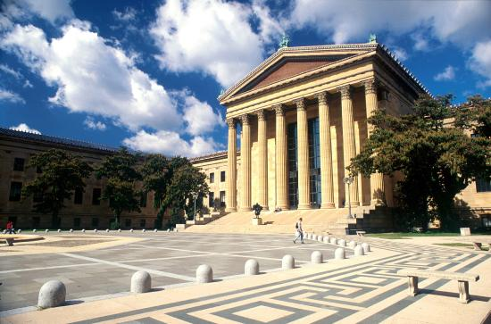 Filadelfia, PA: L'esplanade du Musée des Arts