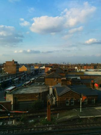 Travelodge London Balham: Balham in the foreground with Vauxhall and the City on the horizon.