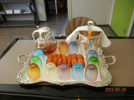 Restaurant La Pyramide : オレンジシューズが絶品(これは、午後に宿泊客に無料で出されるもの)