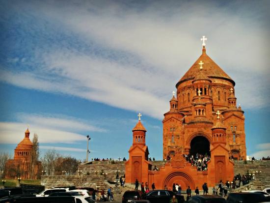 Abovyan, أرمينيا: Saint Hovhannes Church on Russia Street in Abovyan
