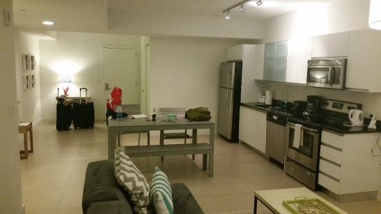 monte carlo miami beach huge living room and kitchen