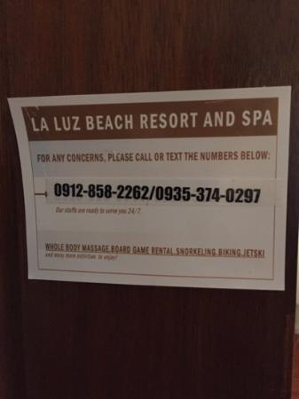La Luz Beach Resort & Spa : The useless sign