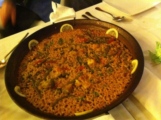 paella vegetariana picture of restaurante canela