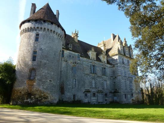 chateau de lanquais: Arriere du château