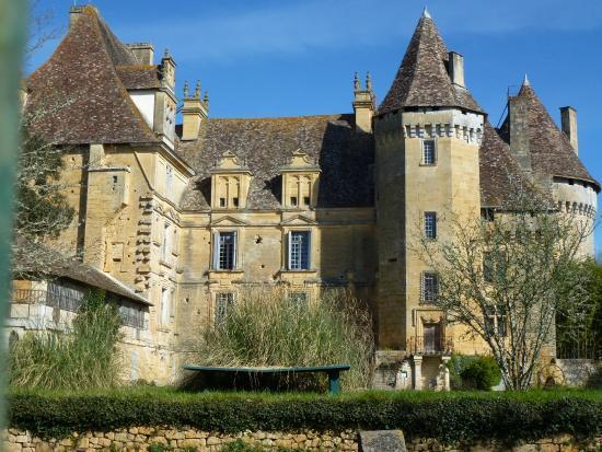 Lanquais, Франция: Entrée du château