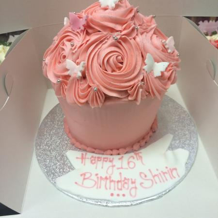 Amazing Girly Giant Cupcake Picture Of Devine Cakes Nottingham Personalised Birthday Cards Beptaeletsinfo