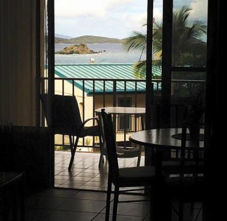 Sapphire Village Resort at Sapphire Beach: View from Kitchen.  Not shabby!