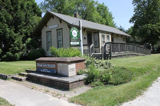 The Arcadia Arts & Heritage Depot displays local art and historical artifacts including Arcadia