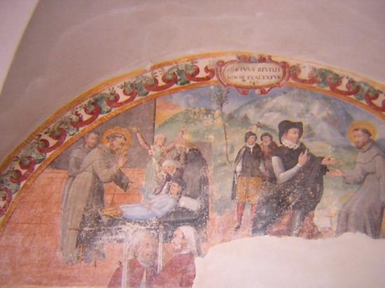 Arcevia, Itália: S. Francesco, affreschi del chiostro