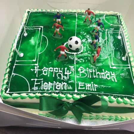 Groovy Football Birthday Cake Picture Of Devine Cakes Nottingham Personalised Birthday Cards Paralily Jamesorg