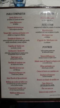 Hotel Coto Real: carta2