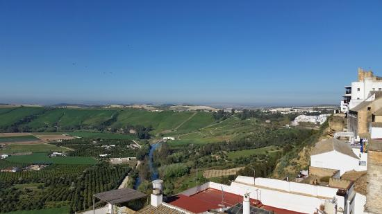 Rincon de las Nieves: view from the top terrace (open to all guests)
