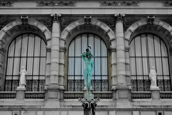 Vue depuis les jardins photo de palais galli ra mus e for Les jardins de la ville paris