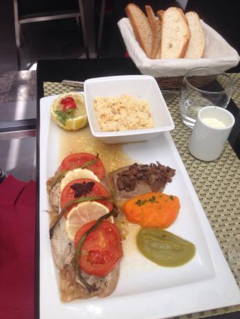 Le Privé Restaurant: Sole en papillote et son trio de purée