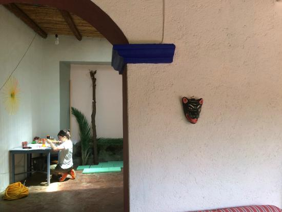 Casa Colonial: The outdoor patio and work area adjoining the artist's studio