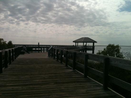 Gulf Islands National Seashore - Mississippi District - Davis Bayou: Pier at Davis Bayou