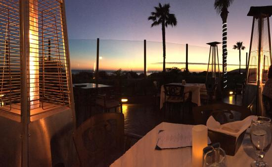Lido at Dolphin Bay : Sunset at Lido Restaurant, mid March 2015