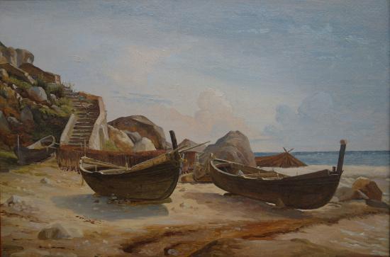 Ny Carlsberg Glyptotek: Christen Købke: Path Leading Up from the Marina Piccola on the Island of Capri