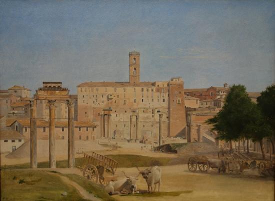 Ny Carlsberg Glyptotek: Christoffer Wilhelm Eckersberg: View from Part of Forum Romanum in Rome