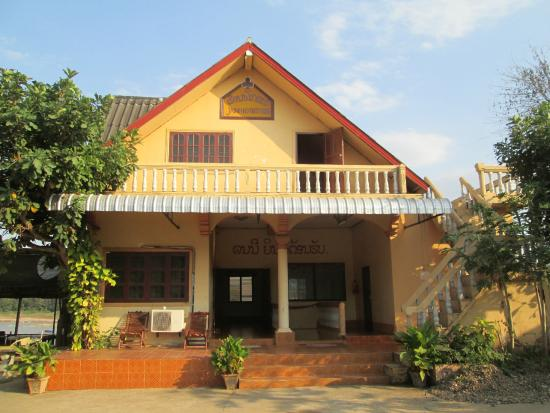 Pak-Lay, Laos: Front Of Guesthouse