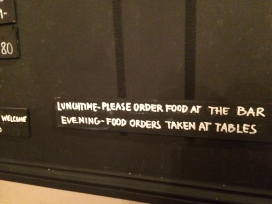 The Boathouse: Nope. Poor barman handling entire restaurant