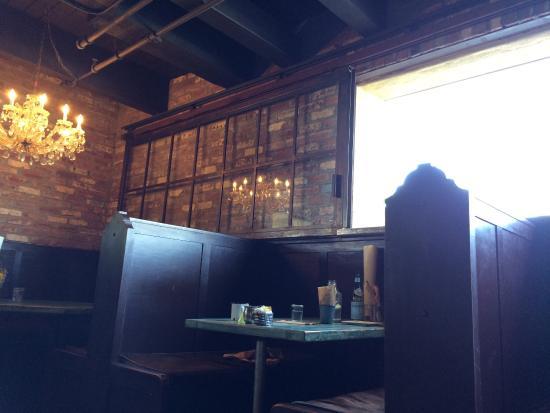 The Tavern: Inside, sliding window