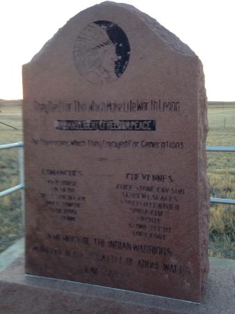 Borger, TX: Marker for Native Americans at Adobe Walls