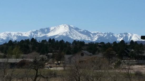 Holiday Inn Express - Air Force Academy: View from Breakfast Room Balcony - PIKES PEAK