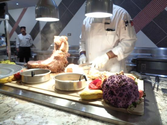 Carving station picture of excalibur buffet las vegas