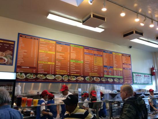 San Mateo, Kalifornien: Elaborate menu
